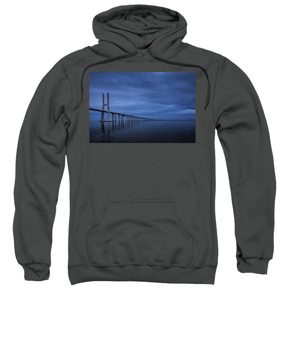 Clouds Sweatshirt featuring the photograph Blue by Jose Bispo
