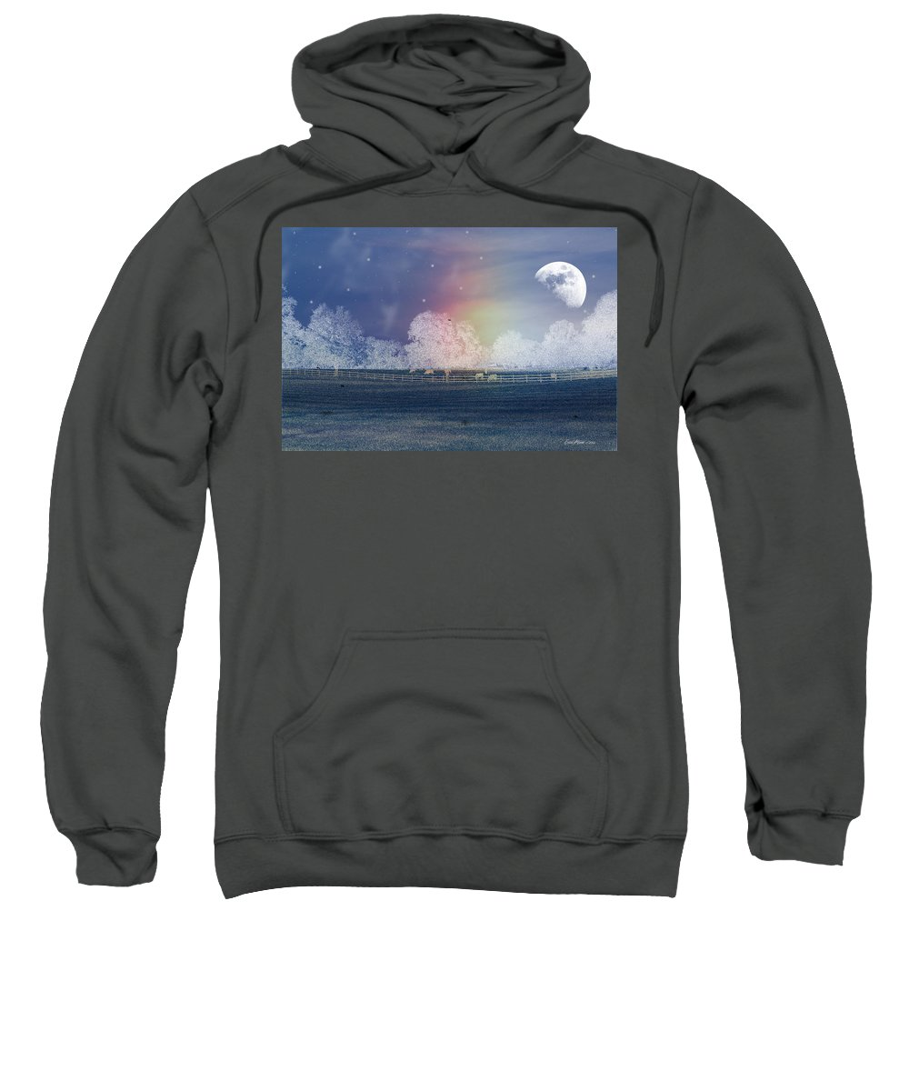 Moon Sweatshirt featuring the photograph By The Light Of The Silvery Moon by Ericamaxine Price