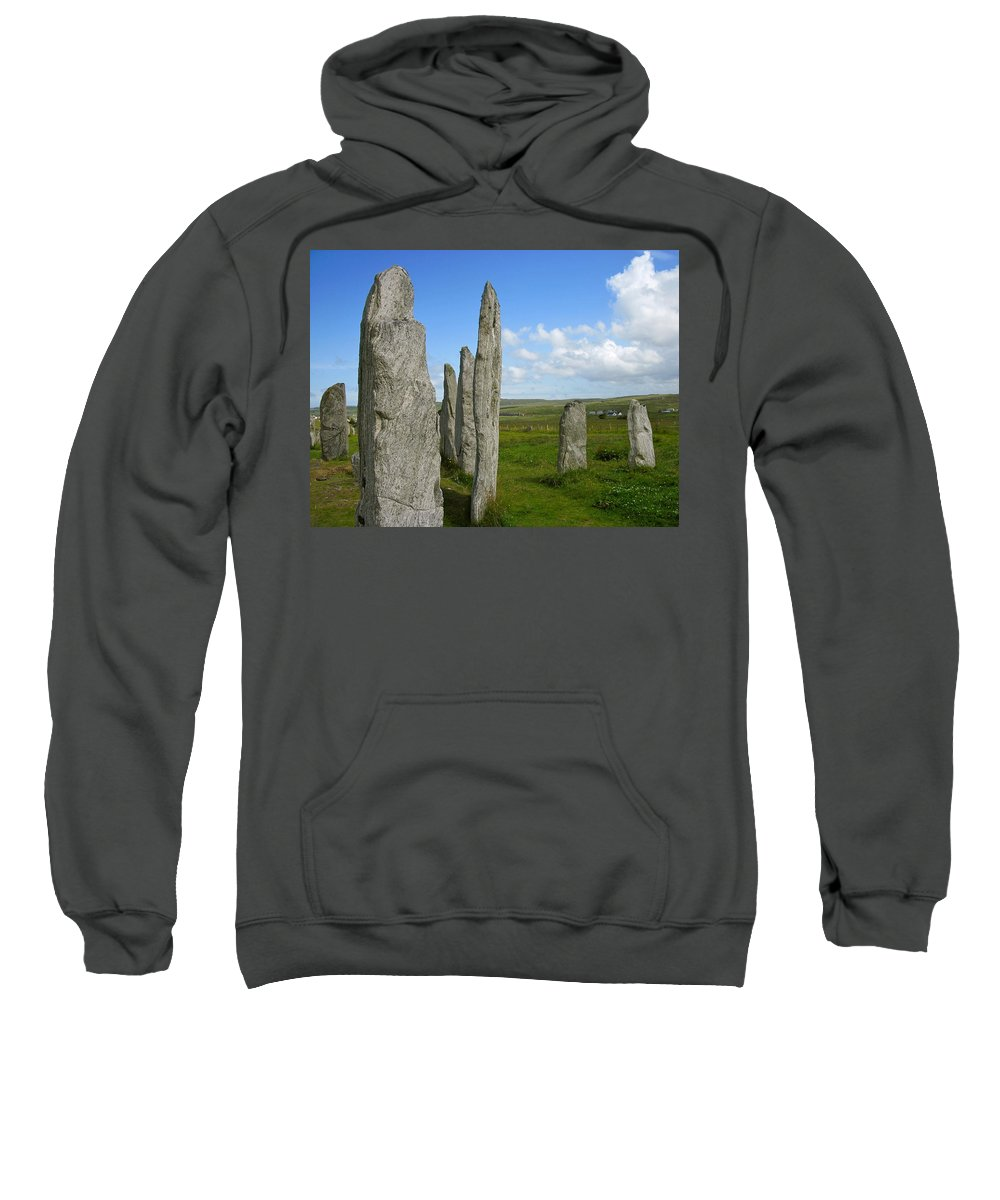 Callanish Inner Circle Sweatshirt featuring the photograph Callanish Stones by Denise Mazzocco
