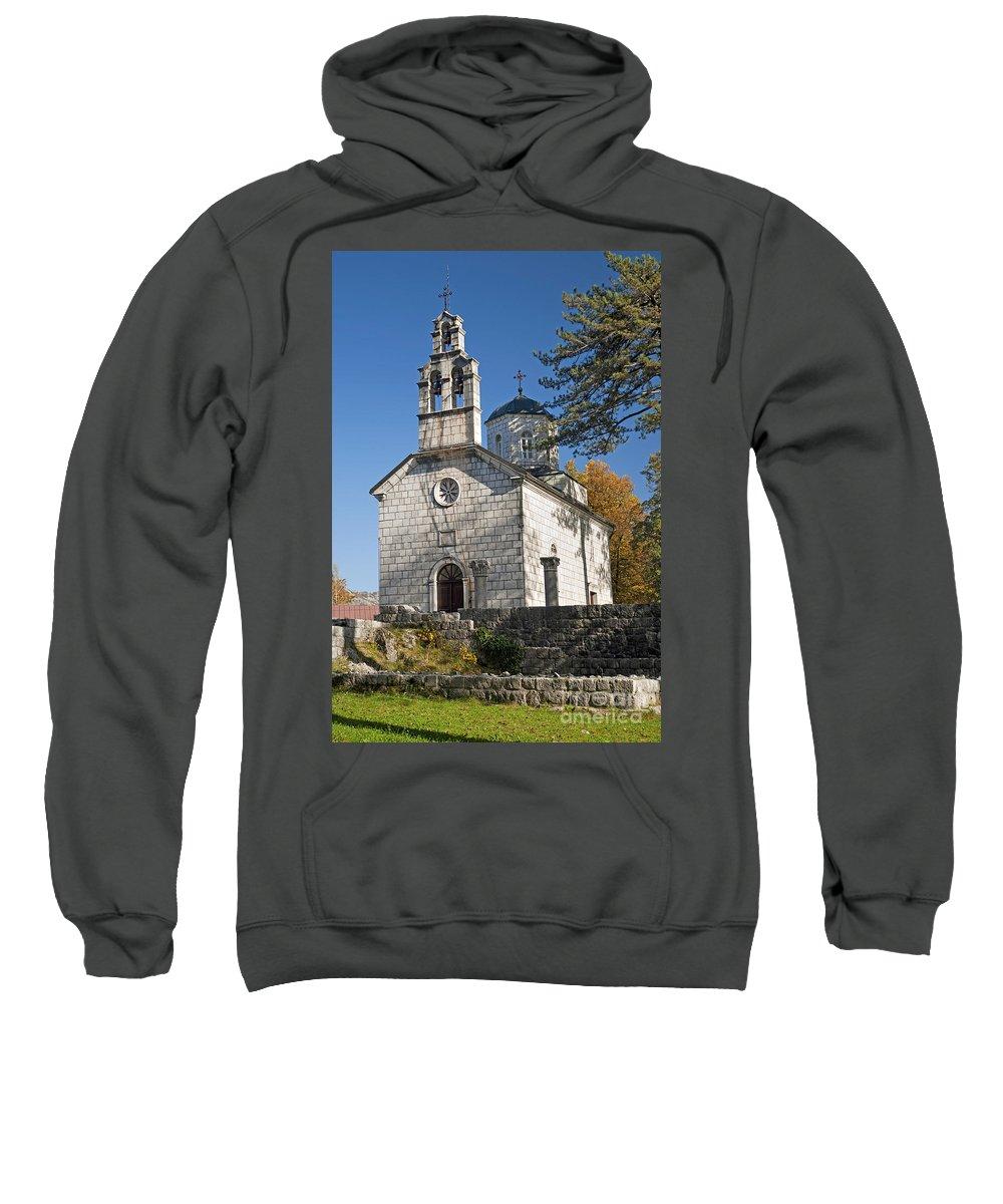 Adriatic Sweatshirt featuring the photograph Church In Cetinje Montenegro by Jacek Malipan