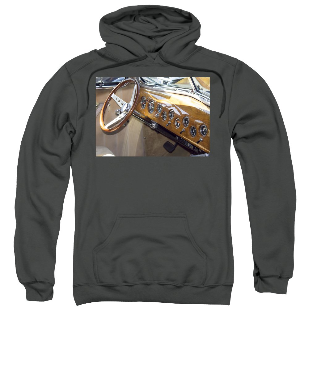 Sweatshirt featuring the photograph Classic Car Interior by Cathy Anderson