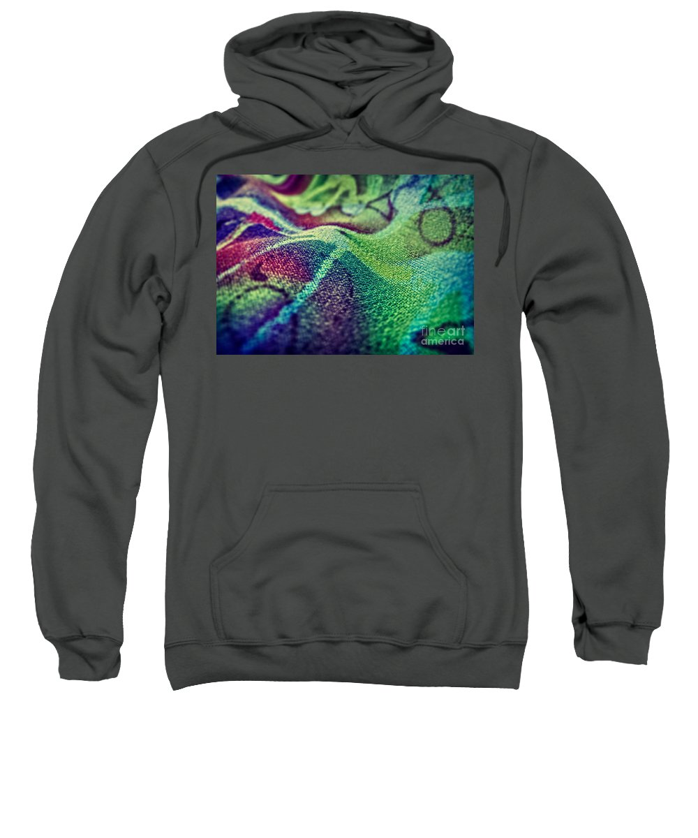 Abstract Photos Sweatshirt featuring the photograph Colored by Justyna JBJart