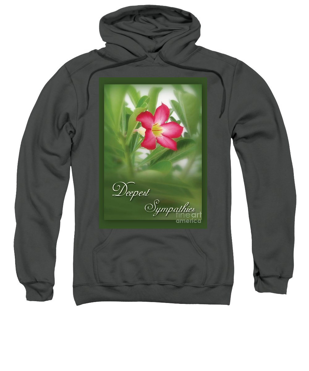 Greeting Cards Sweatshirt featuring the photograph Deepest Sympathies Greeting Card by Prajakta P