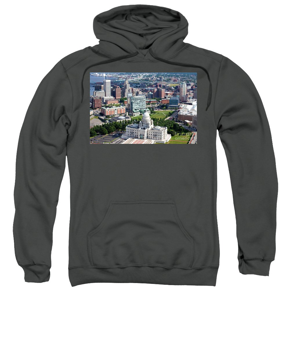 Bank Of America Sweatshirt featuring the photograph Downtown Providence Rhode Island by Bill Cobb
