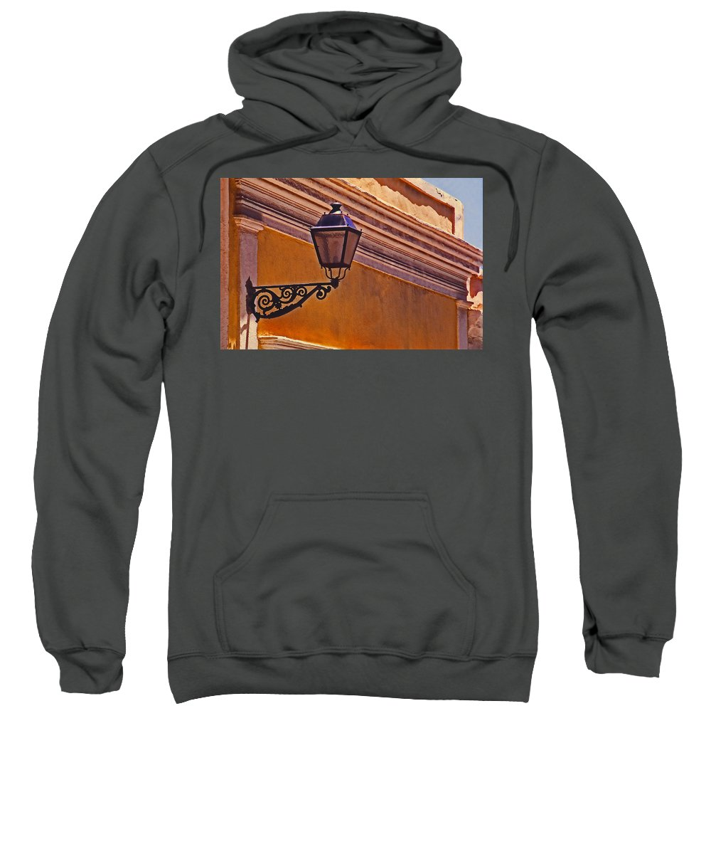 Streetlight Sweatshirt featuring the photograph El Farol by Guillermo Rodriguez