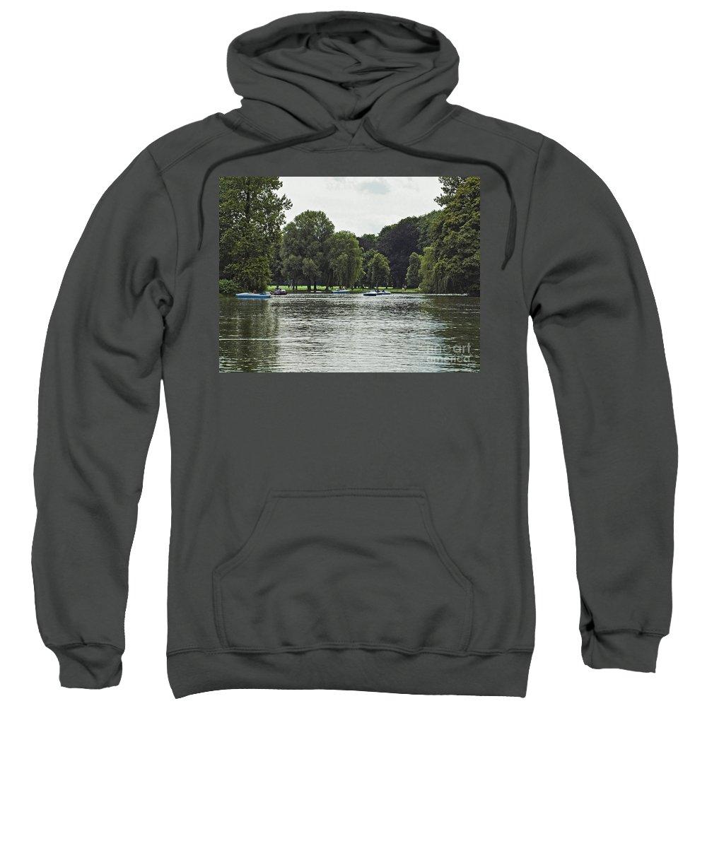 Munich Sweatshirt featuring the photograph English Garden Munich Germany by Howard Stapleton