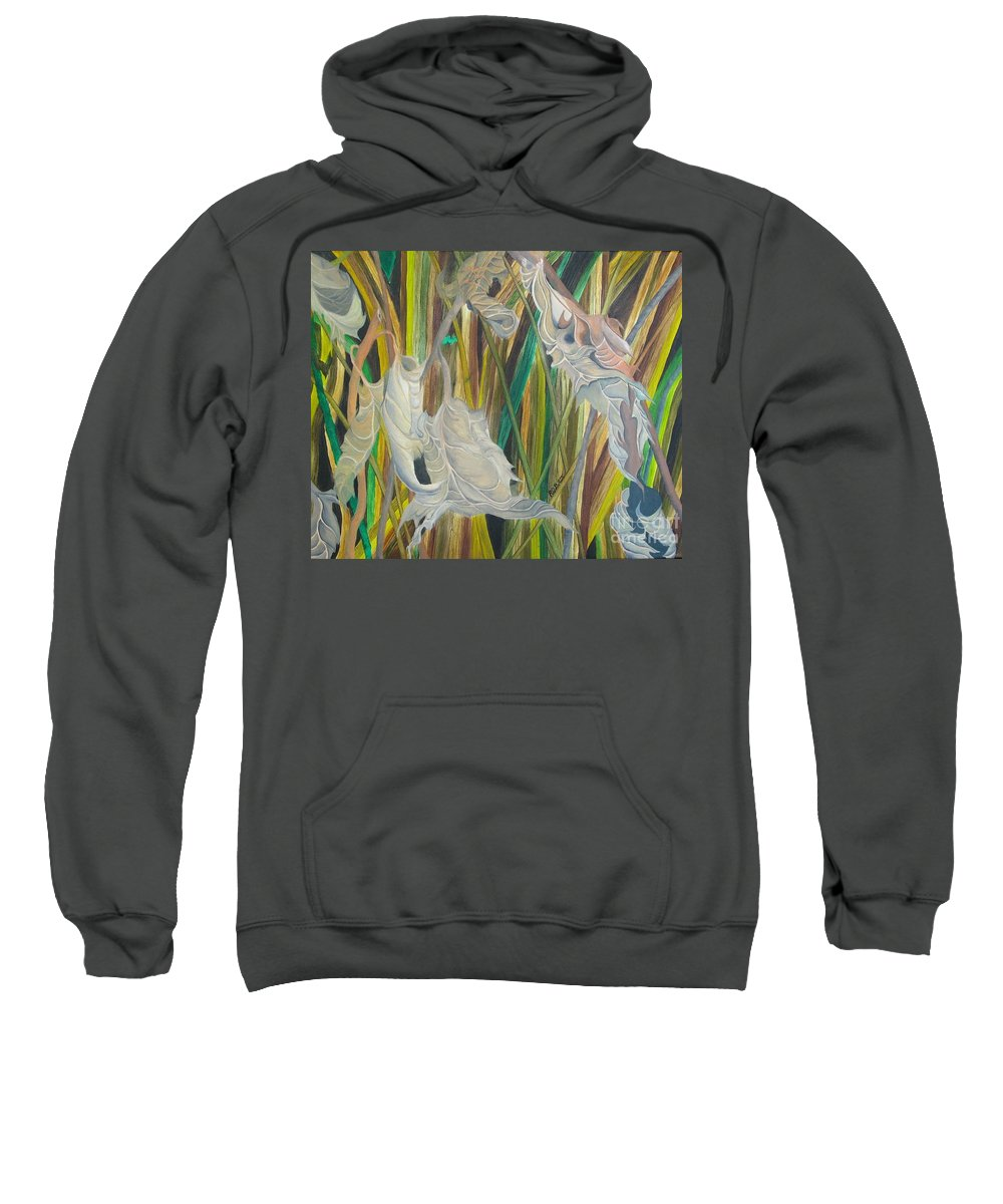 Sweatshirt featuring the painting Fall Leafs Won by Richard Dotson