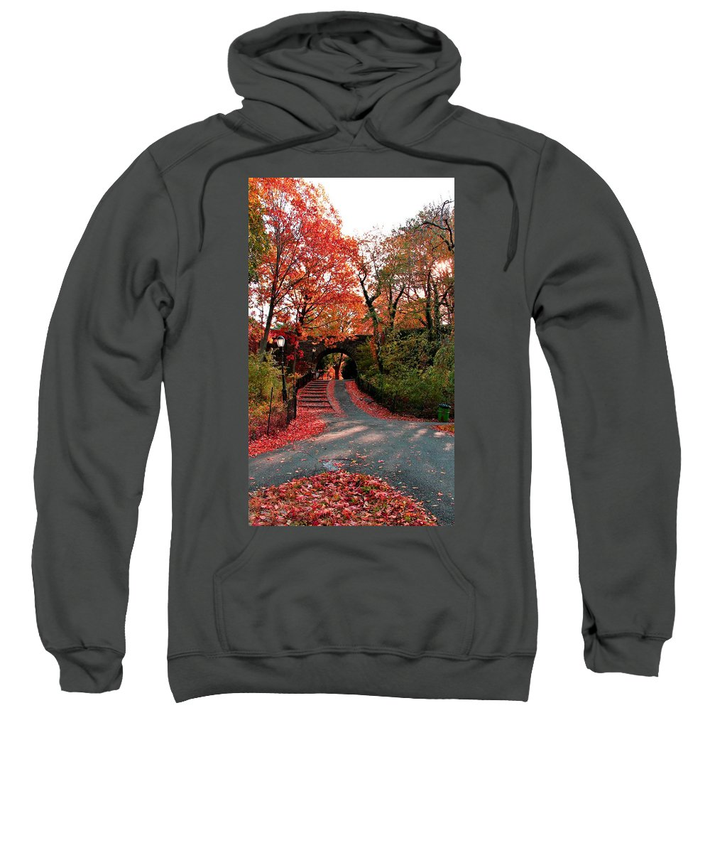 Cloisters Sweatshirt featuring the photograph Fall Path by Catie Canetti