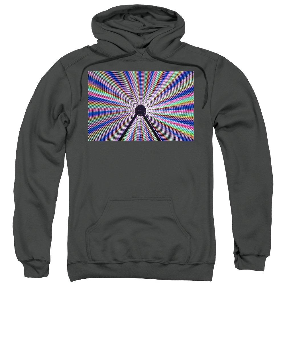 Americana Sweatshirt featuring the photograph Ferris Wheel And Fireworks by Jim Corwin