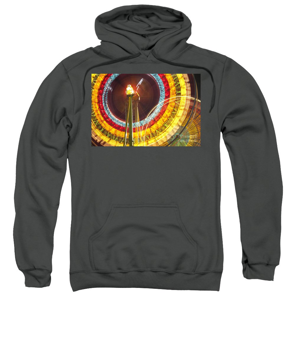 Americana Sweatshirt featuring the photograph Ferris Wheel Evergreen State Fair by Jim Corwin