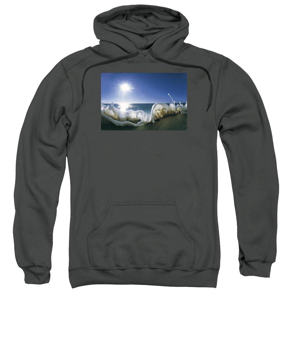 Sea Foam Sweatshirt featuring the photograph Foam Inertia by Sean Davey