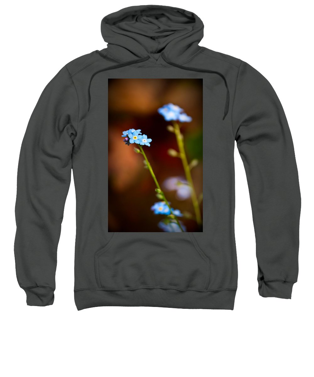 Forget-me-not Sweatshirt featuring the photograph Forget Me Not by Onyonet Photo Studios