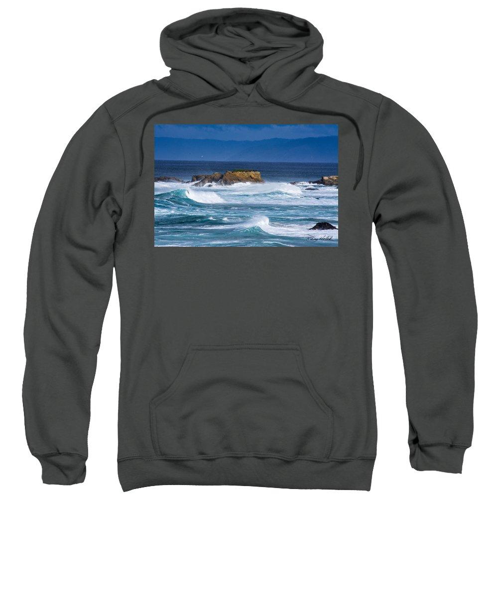 Coastline Sweatshirt featuring the photograph Fort Bragg Coastline by Doug Holck