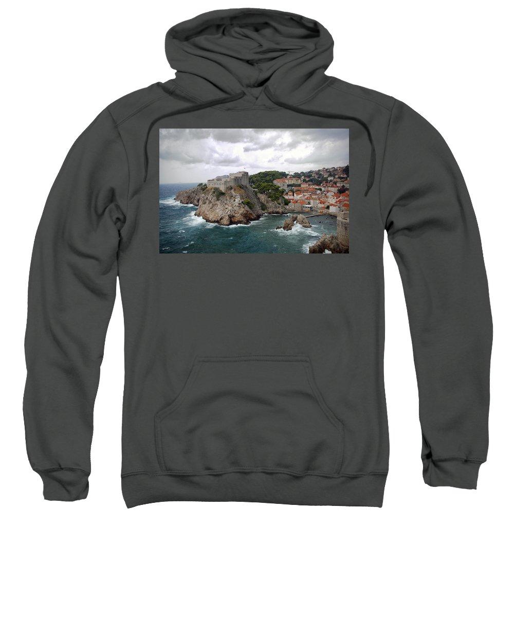 Fort Sweatshirt featuring the photograph Fort Lovrijenac - Dubrovnik - Croatia by Madeline Ellis