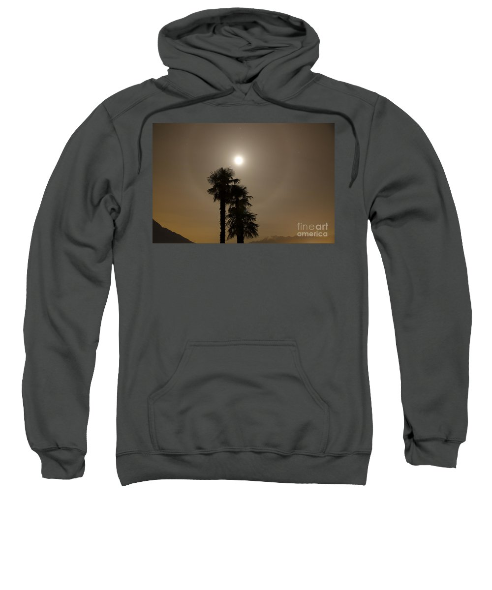 Halo Sweatshirt featuring the photograph Halo With Moon Light by Mats Silvan
