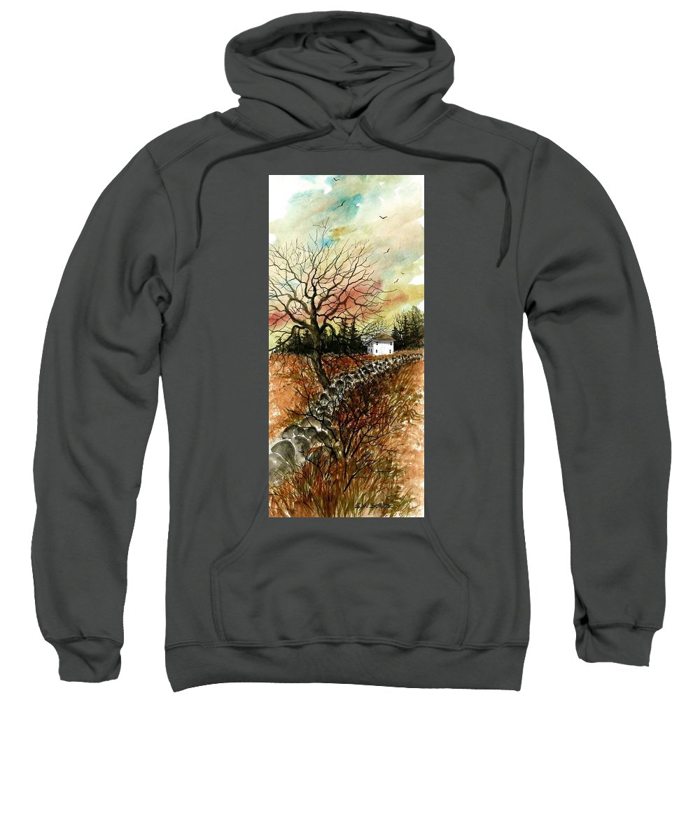 Home Sweatshirt featuring the painting Home In The Distance by Steven Schultz