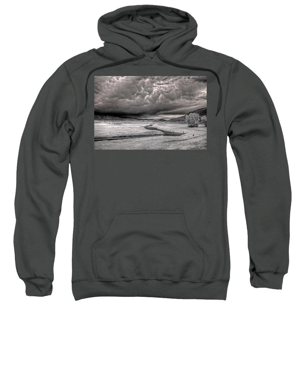 Landscape Sweatshirt featuring the photograph Kootenai Wildlife Refuge In Infrared 2 by Lee Santa