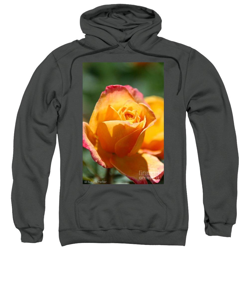 Flower Sweatshirt featuring the photograph Lipstick by Susan Herber