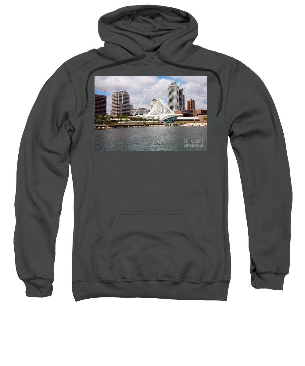 Northwestern Mutual Sweatshirt featuring the photograph Milwaukee Art Museum by Bill Cobb