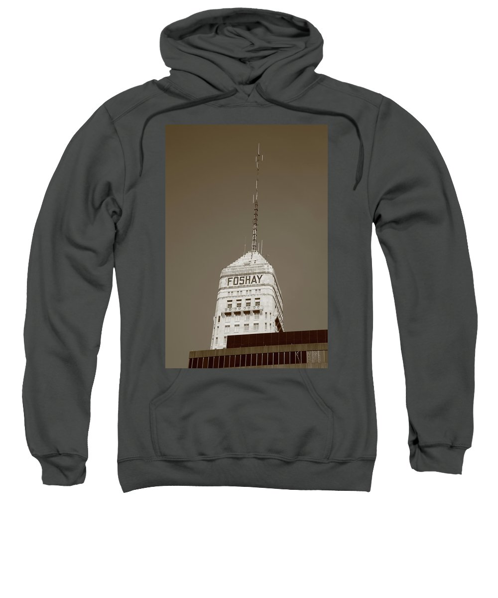 America Sweatshirt featuring the photograph Minneapolis Tower by Frank Romeo
