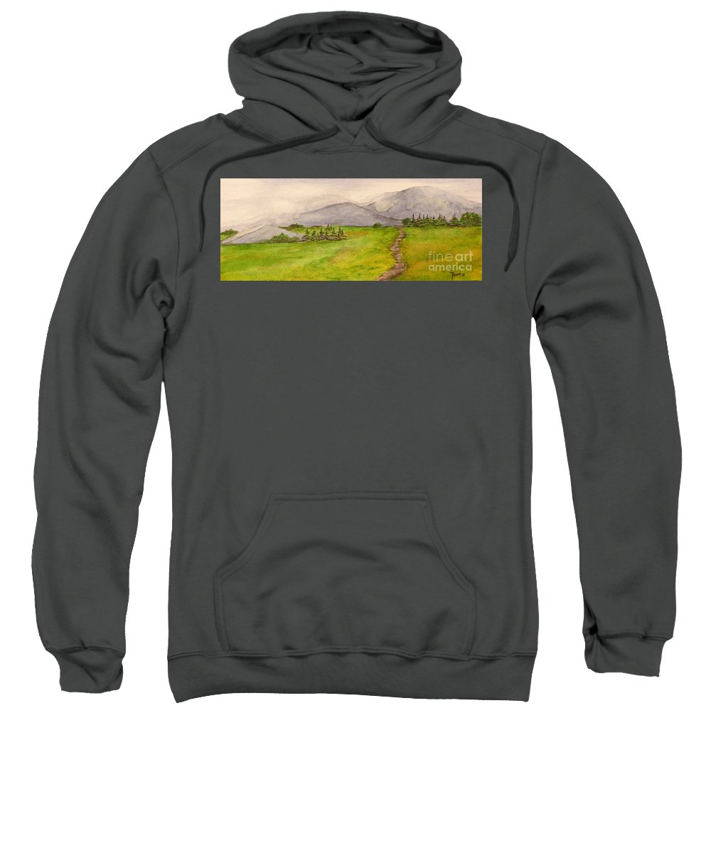 Paintings Sweatshirt featuring the painting Morning Fog by Regan J Smith