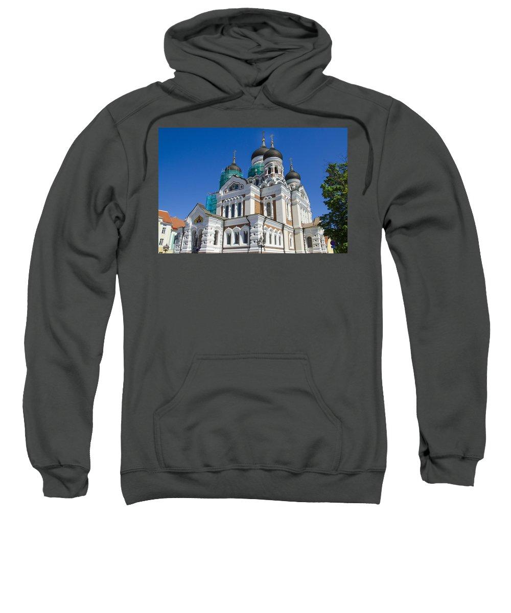 Estonia Sweatshirt featuring the photograph Nevsky Cathedral - Tallin Estonia by Jon Berghoff