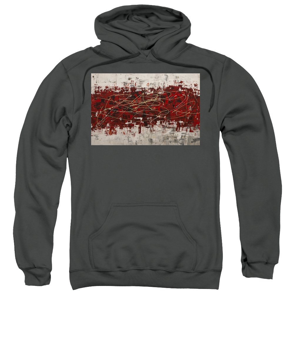 Abstract Art Sweatshirt featuring the painting Off Limits by Carmen Guedez