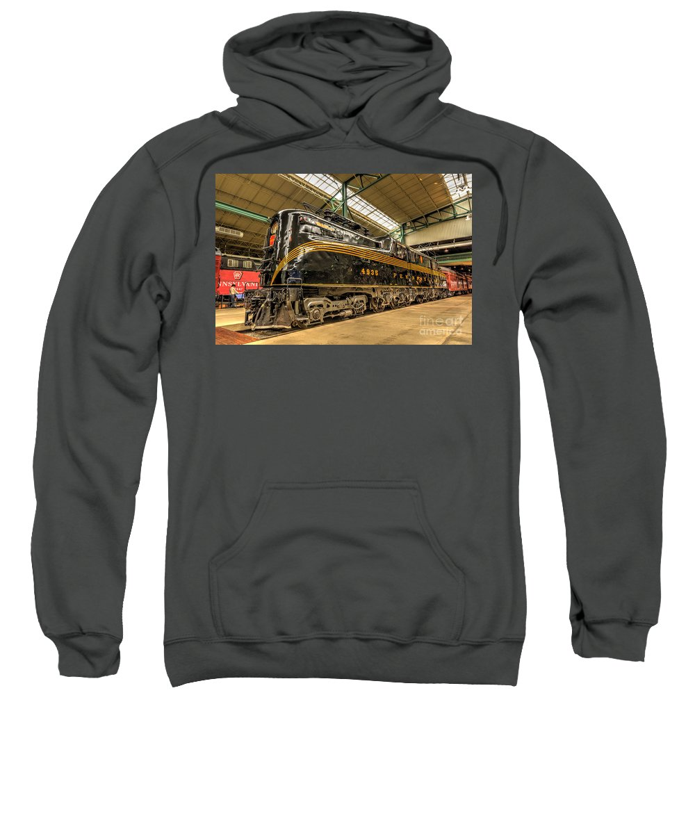 Pa Railroad Sweatshirt featuring the photograph Pa Diesel Electric 4935 by Paul W Faust - Impressions of Light