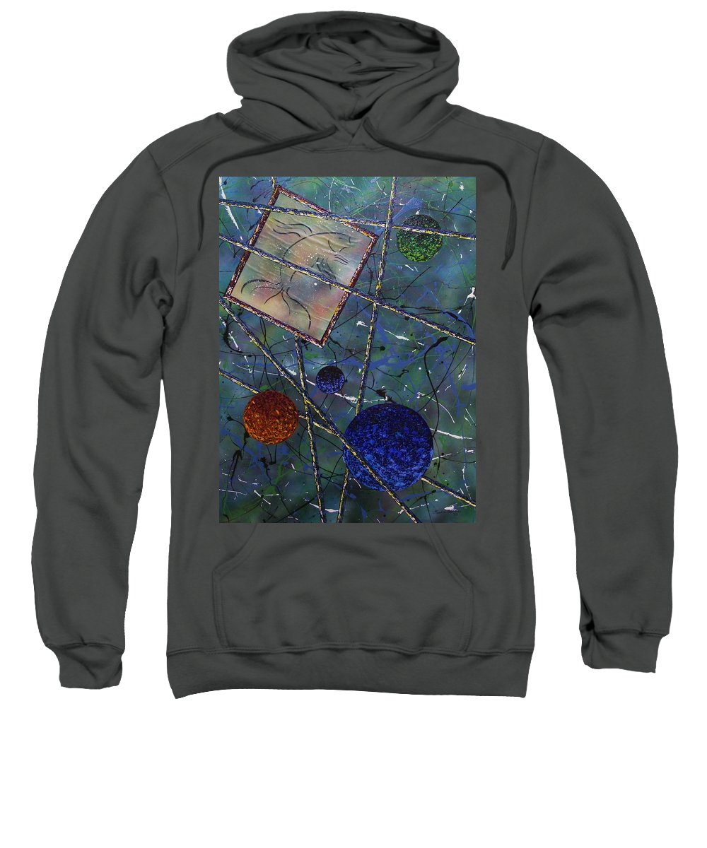 Fish Sweatshirt featuring the painting Pisces by Micah Guenther