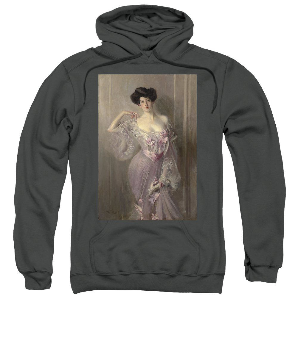 Giovanni Sweatshirt featuring the painting Portrait Of Ena Wertheimer by Giovanni Boldini