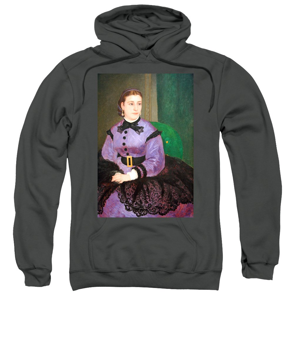 Mademoiselle Sicot Sweatshirt featuring the photograph Renoir's Mademoiselle Sicot by Cora Wandel