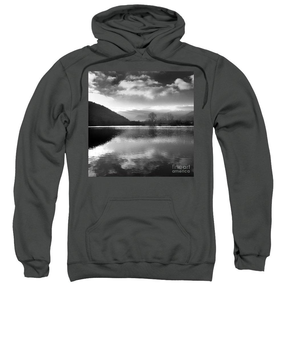 Auvergne Sweatshirt featuring the photograph Romantic Lake by Bernard Jaubert