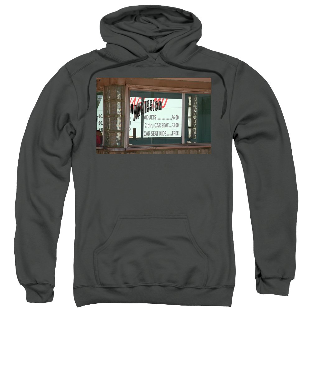 66 Sweatshirt featuring the photograph Route 66 Drive-in Theatre by Frank Romeo