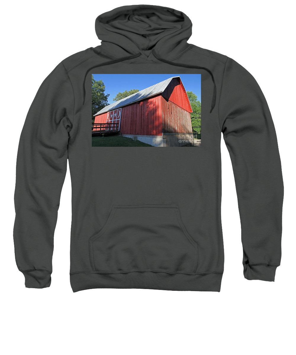 Red Sweatshirt featuring the photograph Rustic Red Barn by Kevin McCarthy