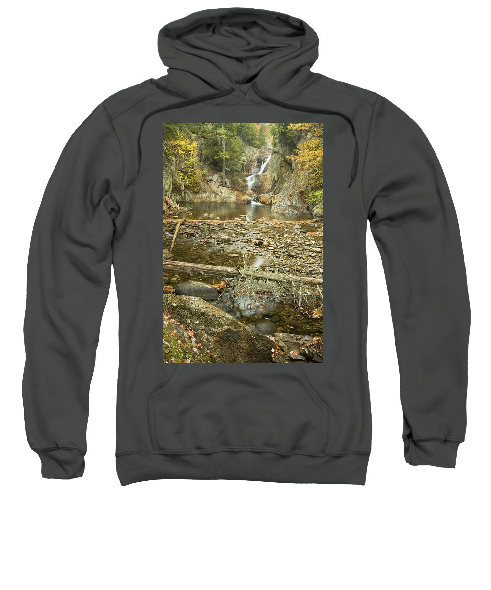 Maine Sweatshirt featuring the photograph Smalls Falls In Autumn Western Maine by Keith Webber Jr
