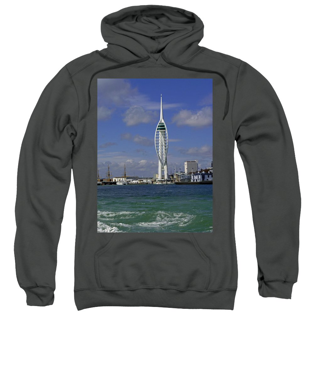 Spinnaker Tower Sweatshirt featuring the photograph Spinnaker Tower by Tony Murtagh