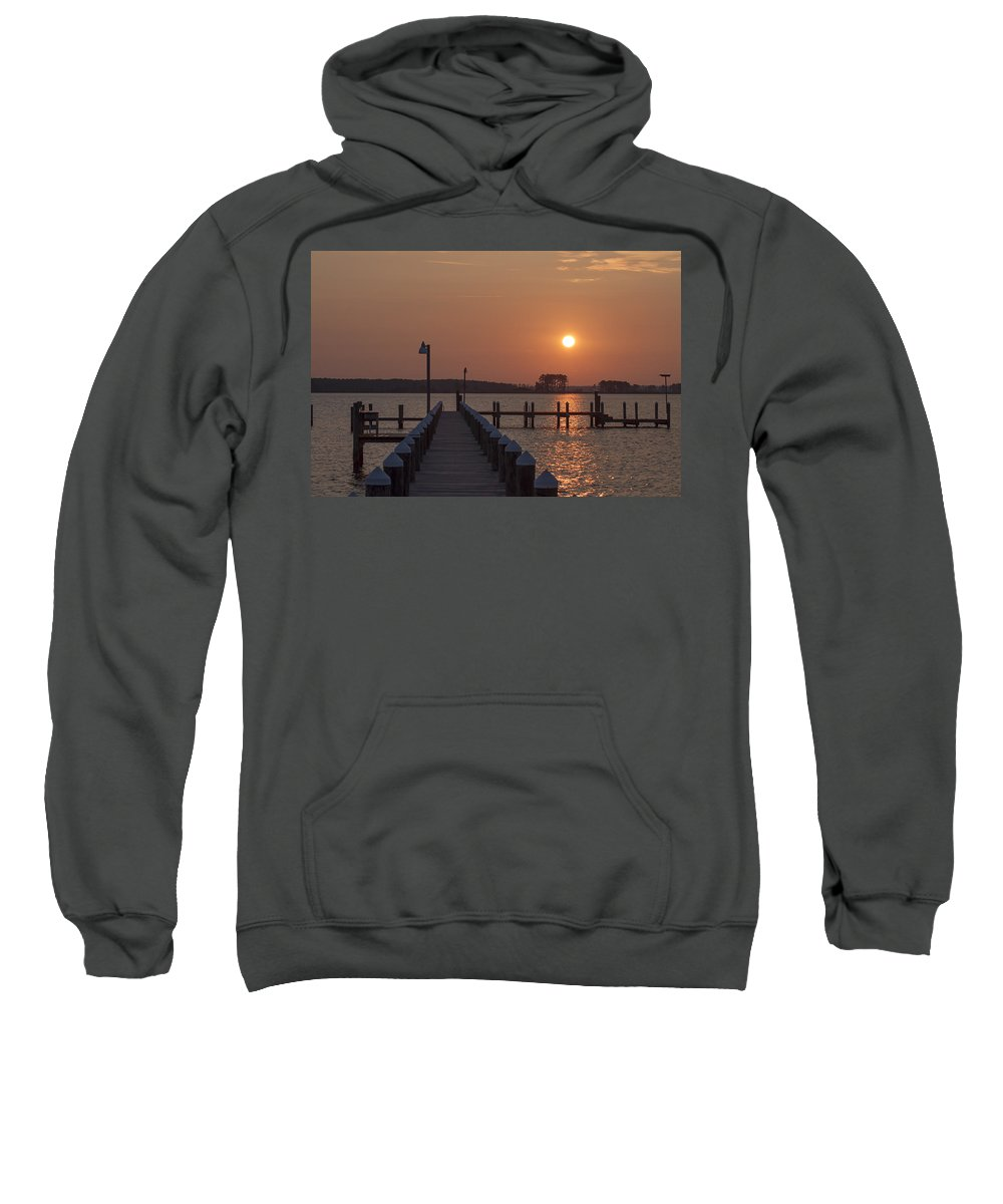 Marys Sweatshirt featuring the photograph St Marys County Maryland Sunrise by Bill Cannon