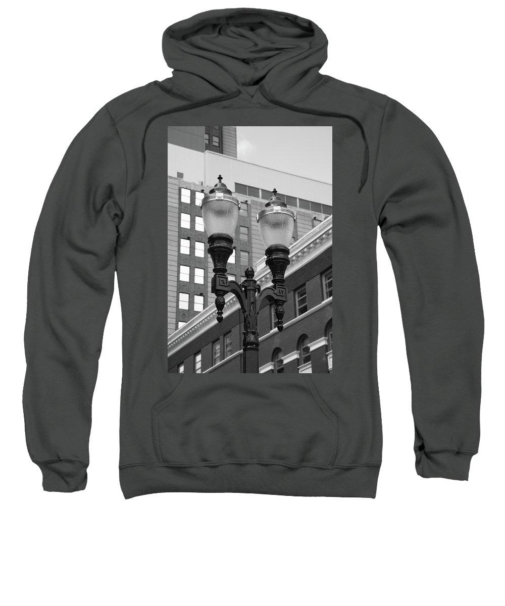 Antique Sweatshirt featuring the photograph Streetlights - Lansing Michigan by Frank Romeo