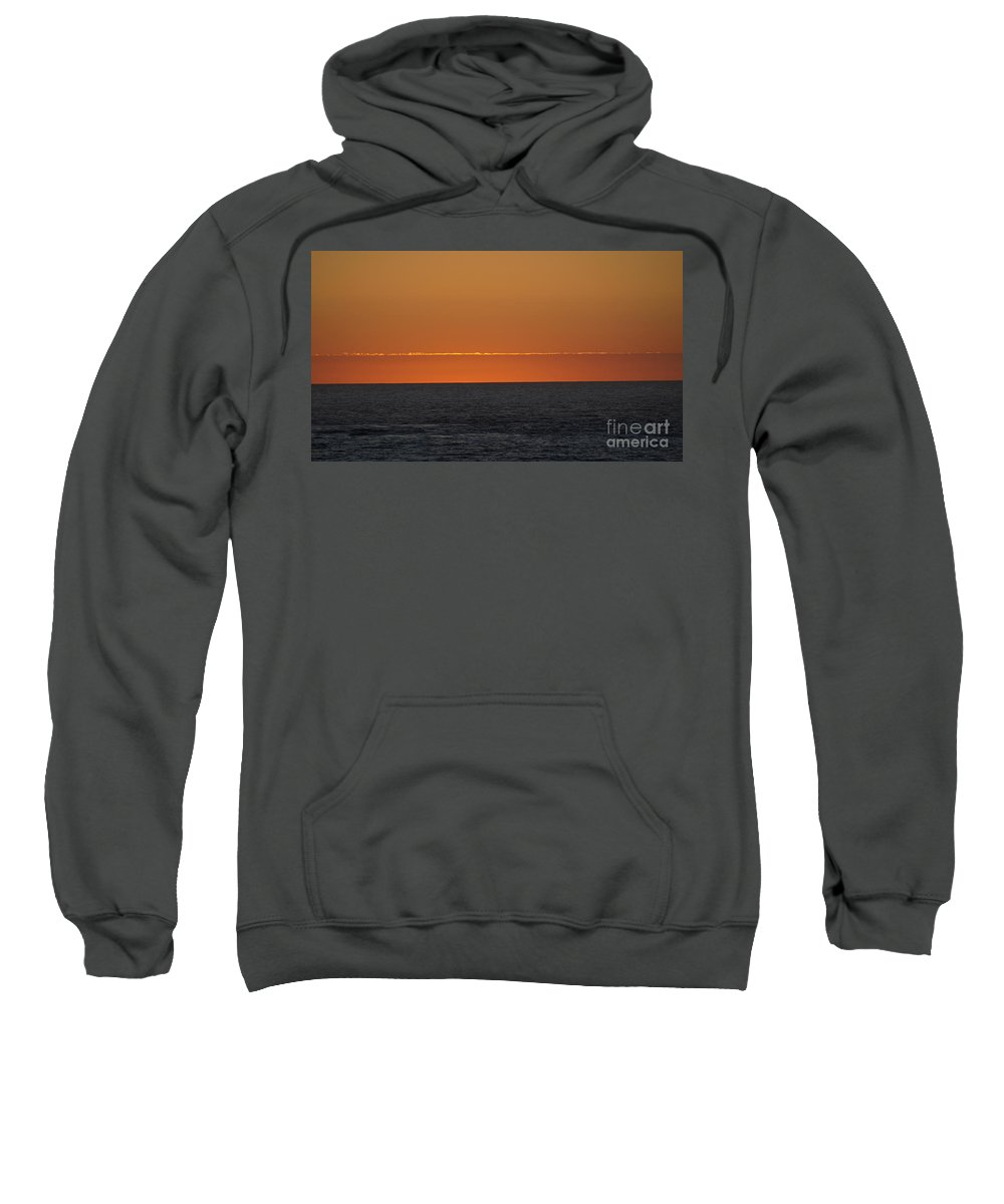 Orange Sweatshirt featuring the photograph Sunset by Jacklyn Duryea Fraizer