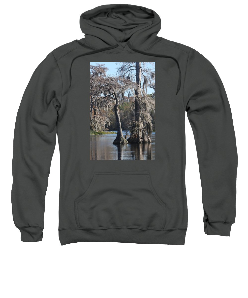 Swamp Sweatshirt featuring the photograph Swampreflection by Christiane Schulze Art And Photography