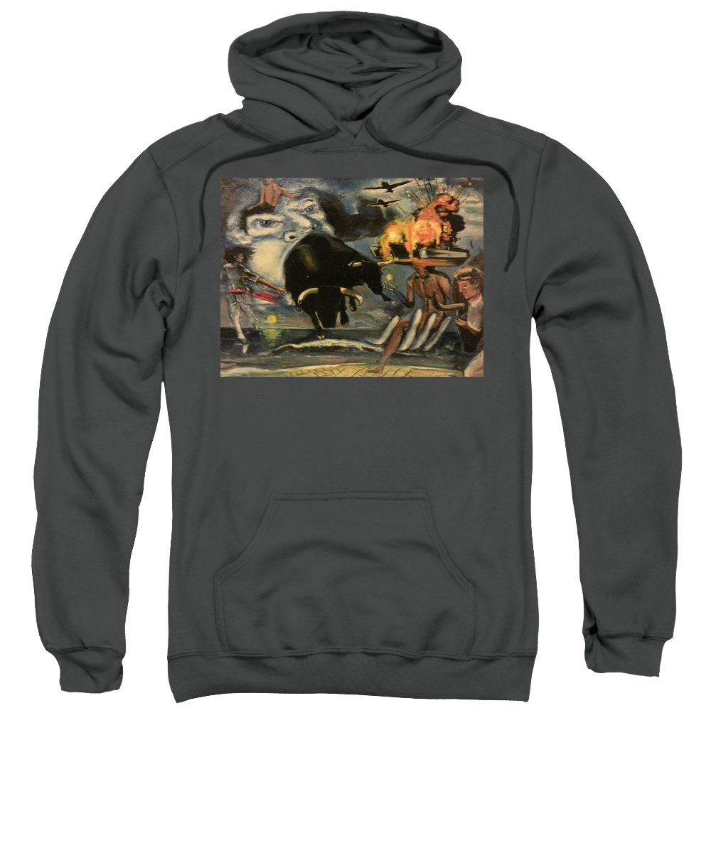 Sweatshirt featuring the painting The Air Giving Birth To The Beasts Of The Feild by Jude Darrien