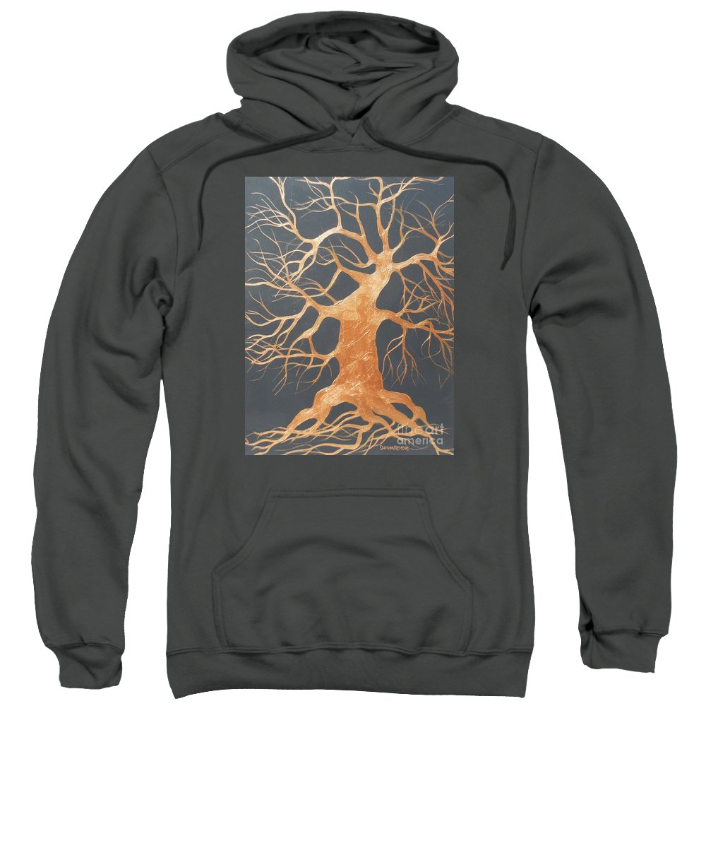 Tree Sweatshirt featuring the painting The Dance by Dan Whittemore