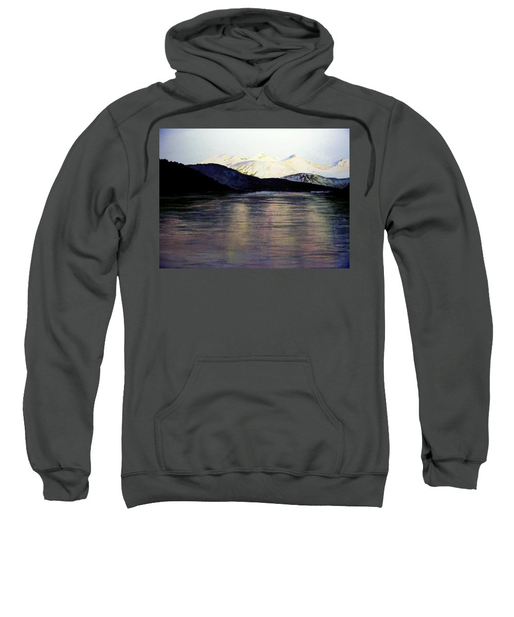 Watercolor Sweatshirt featuring the painting The Deepening Day by Brenda Owen