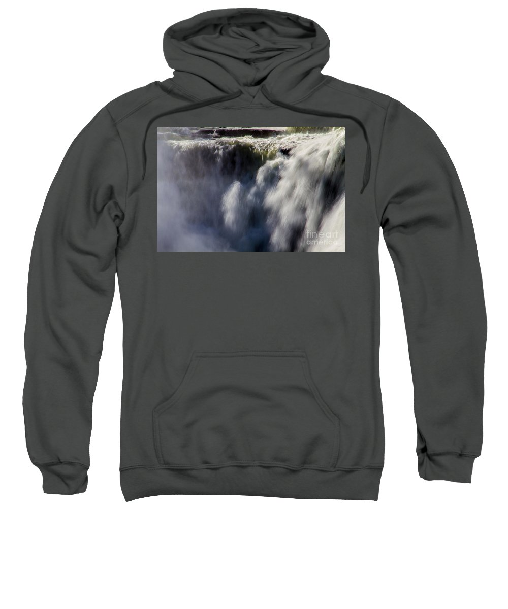 Letchworth Sweatshirt featuring the photograph The Falls by William Norton