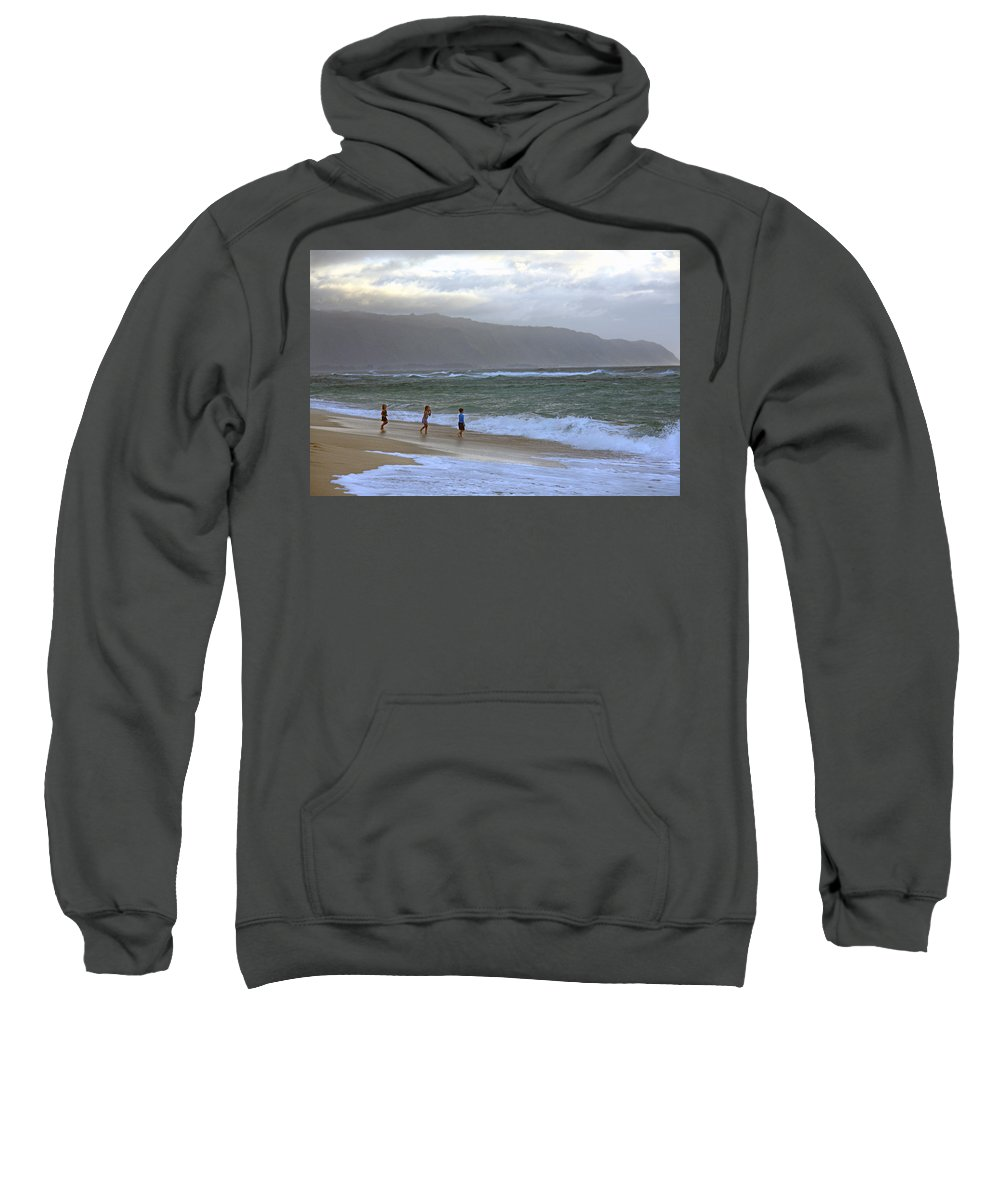 Sunset Beach Sweatshirt featuring the photograph The Ocean Is Calling Me by Stacy Egnor