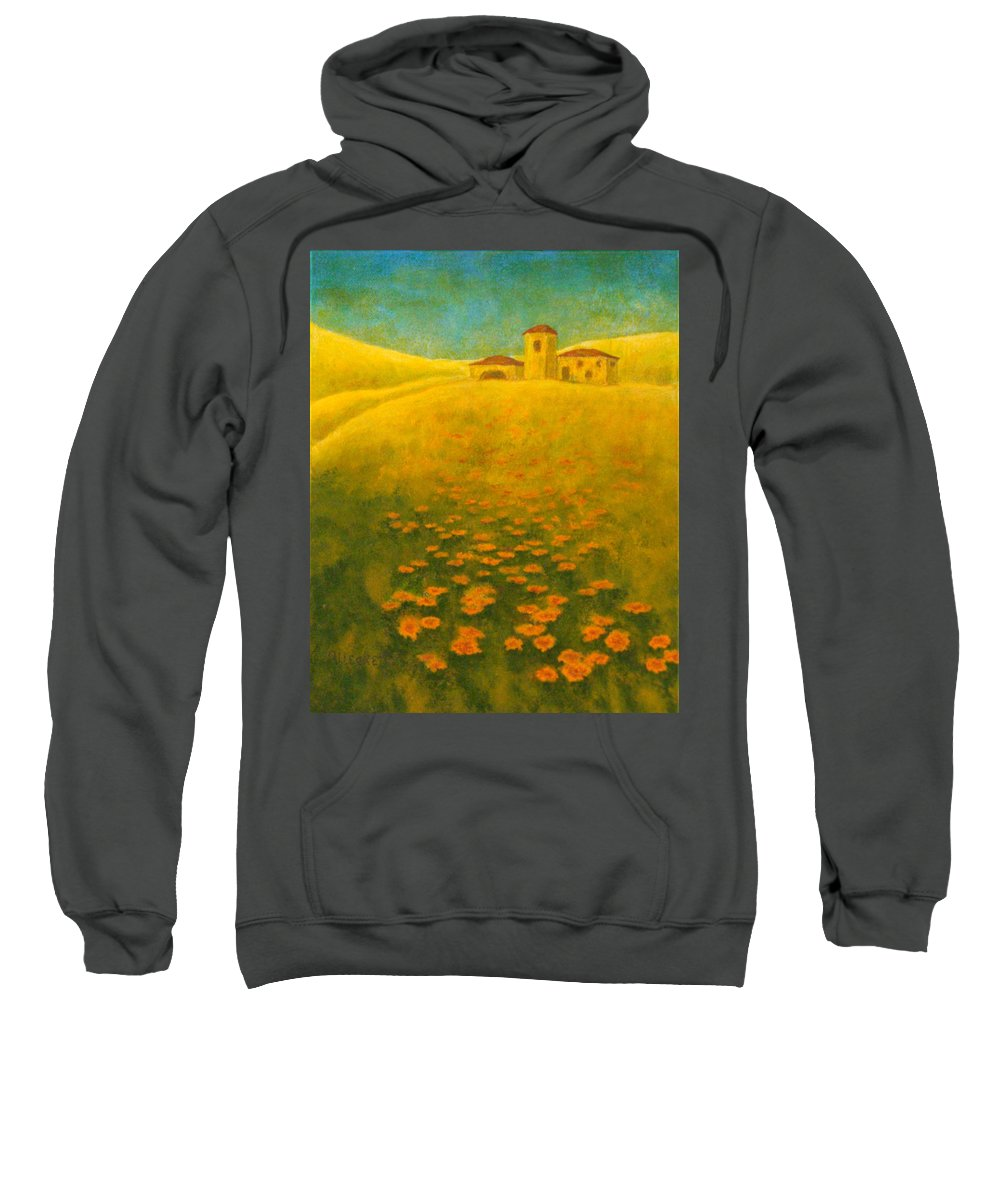 Allegretto Art Sweatshirt featuring the painting Tuscan Gold 2 by Pamela Allegretto