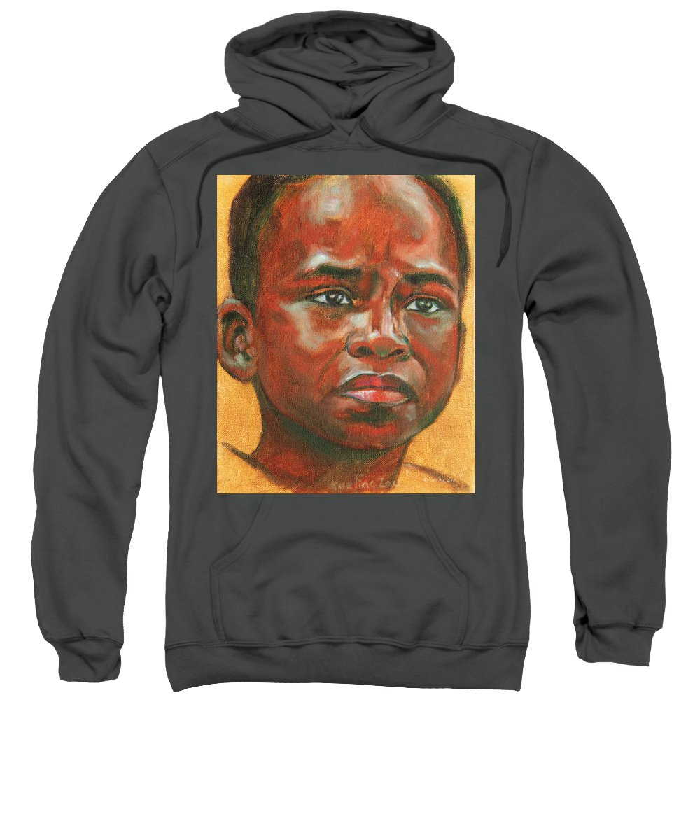 The Sweatshirt featuring the painting Uncertainty by Xueling Zou