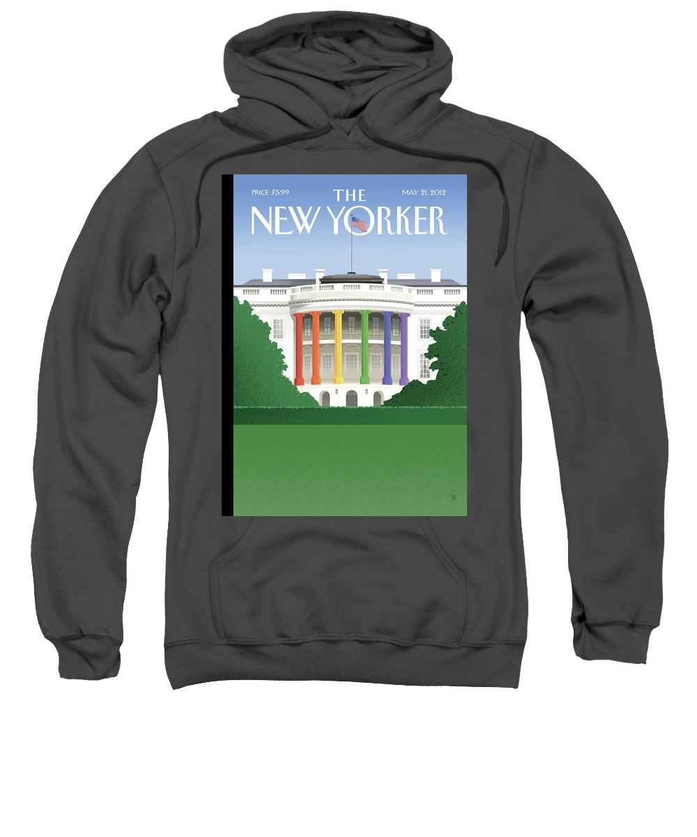 President Sweatshirt featuring the painting Spectrum Of Light by Bob Staake