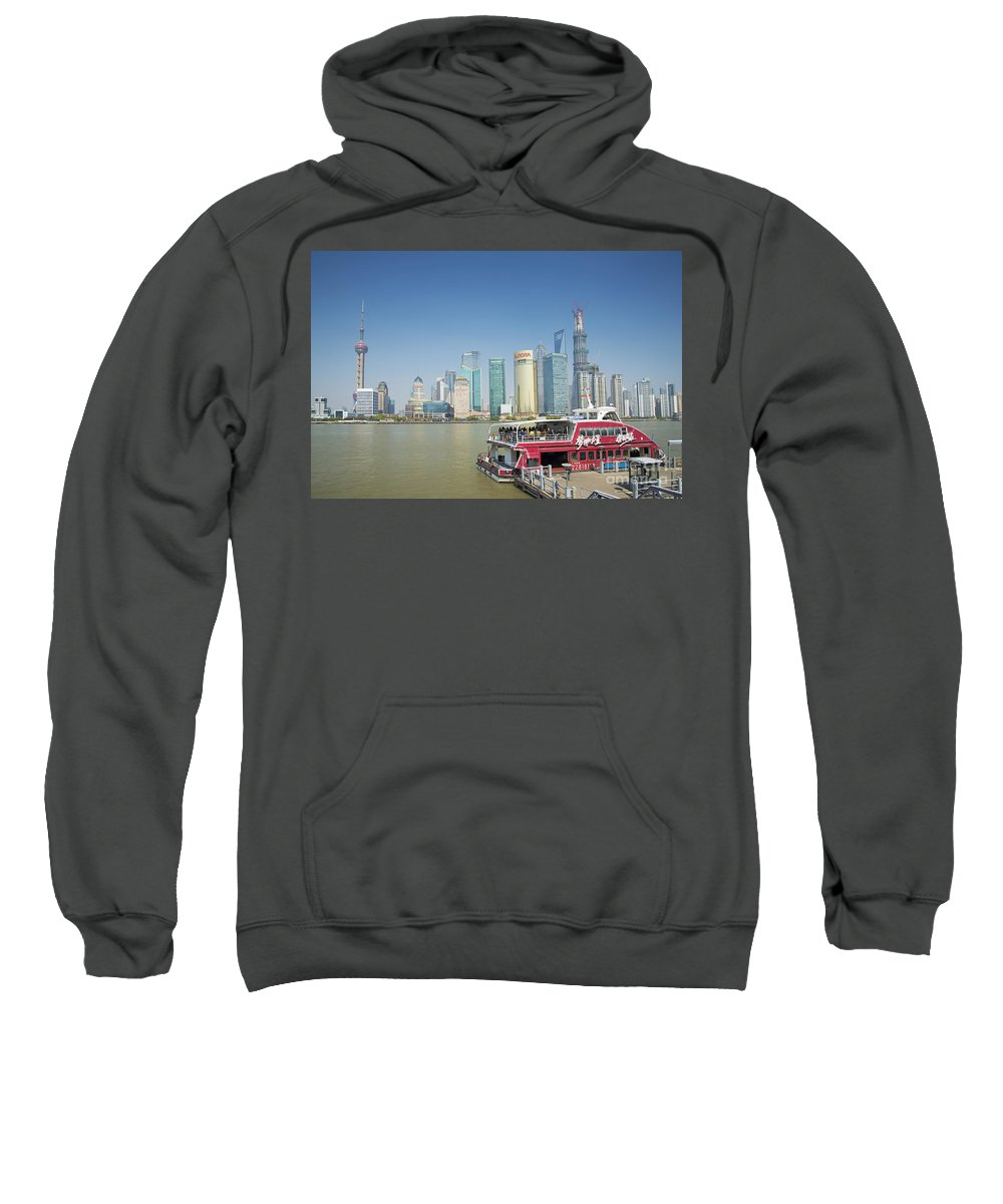 Architecture Sweatshirt featuring the photograph View Of Pudong In Shanghai China by Jacek Malipan