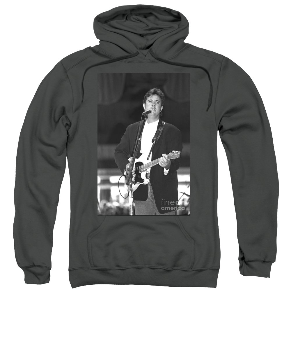 Country Sweatshirt featuring the photograph Vince Gill by Concert Photos